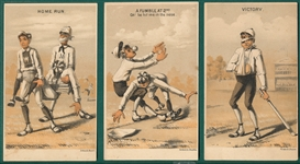 1887 H804-16 Forbes Co.,Baseball Trade Cards, Complete Set (6)
