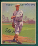 "1933 Goudey #220 Robert ""Lefty""Grove, Autographed JSA Authentic"