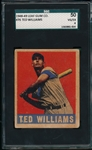 1948-49 Leaf #76 Ted Williams SGC 50