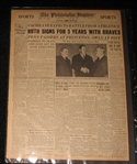 Babe Ruth Newspapers Lot
