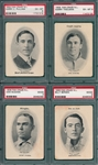 1906 Fan Craze (4) Card Lot W/ Pulliam PSA