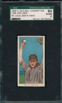 1909-1911 T206 Lake, Ball in Hand, Old Mill Cigarettes SGC 80