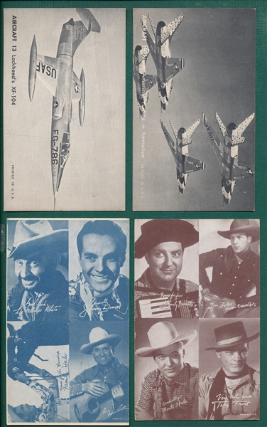 1950s Exhibits Lot of (20) W/ Jets & Cowboys