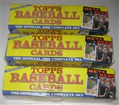 1986 Topps Baseball Complete Factory Sets Lot of (3)