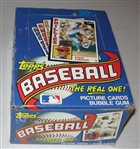 1984 Topps Baseball Wax Box, Unopened