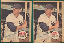 1967 Topps Posters Lot of (87) W/ Two Mantles