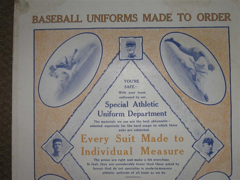 1910s Mills & Hall Tailors, Advertising Pieces W/ Mathewson, Evers & Cobb