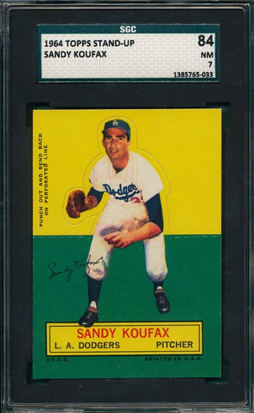 1964 Topps Stand-Up Sandy Koufax SGC 84