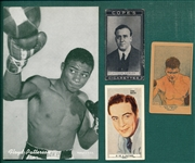 1920s-1950s Lot of (6) Boxing Cards W/ Jack Dempsey