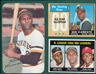 1967-72 Topps Lot of (7) Roberto Clemente