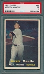 1957 Topps #95 Mickey Mantle PSA 1