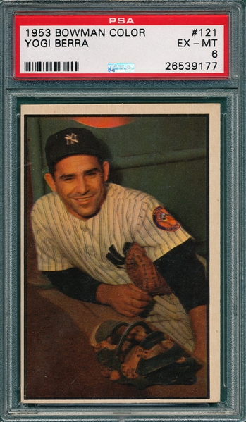 1953 Bowman Color #121 Yogi Berra PSA 6 *SP*
