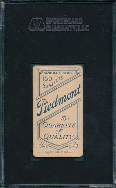 1909-1911 T206 Marquard, Hands at Thighs, Piedmont Cigarettes SGC 35
