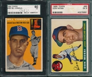 1954 Topps #195 Consolo SGC 60 & #85 Mossi PSA 5, Lot of (2)