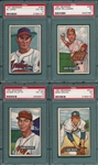 1951 Bowman Lot of (4) High Numbers W/ #295 Al Lopez PSA 4