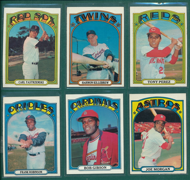 1972 Topps Baseball Complete Set (787) W/ Wrapper *Crease Free*