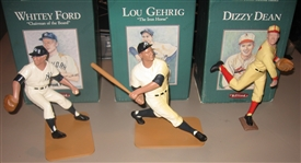 1991 Hartland Statues Lot of (3) W/ Ford, Dean & Gehrig