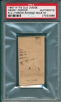 1887 N172 372-4 Henry Porter Old Judge Cigarettes PSA Authentic