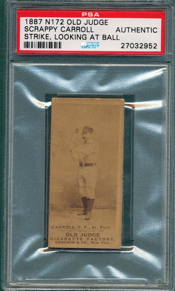 1887 N172 068-2 Scrappy Carroll Old Judge Cigarettes PSA Authentic