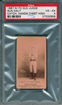 1887 N172 115-4 Sun Daly Old Judge Cigarettes PSA 4