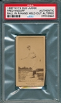 1887 N172 267-4 Fred Knouff Old Judge Cigarettes PSA Authentic