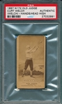 1887 N172 485-5 Curtis Welch Old Judge Cigarettes PSA Authentic