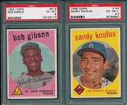 1959 Topps Baseball Complete Set (572) W/ Koufax PSA 6.5 & Gibson, Rookie, High Number PSA 6