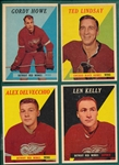1958-59 Topps HCKY Partial Set (41/66) W/ Howe *Gorgeous*
