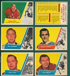 1963-64 Topps HCKY Partial Set (41/66) W/ Hull & Checklist, *Gorgeous*
