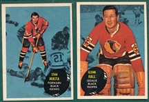 1961-62 Topps HCKY Lot of (16) W/ Mikita