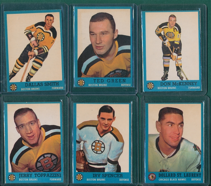 1962-63 Topps HCKY Lot of (12) W/ Checklist