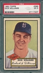 1952 Topps #396 Dick Williams PSA 5 *Hi #* *Rookie*