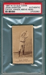 1887 N172 276-4 John Leighton Old Judge Cigarettes PSA Authentic *Dark, Clear Image*