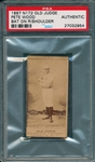 1887 N172 509-1 Pete Wood Old Judge Cigarettes PSA Authentic *Clear Image*