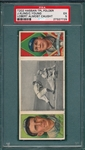 1912 T202 Lobert Almost Caught, Kling/ Cy Young Hassan Cigarettes PSA 5