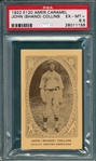 "1922 E120 John ""Shano"" Collins American caramel Co. PSA 6.5 *Only One Graded Higher*"