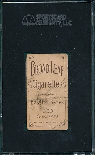 1909-1911 T206 Gasper Broad Leaf Cigarettes SGC 20 *Low Pop*