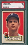 1952 Topps #87 Dale Coogan PSA 7 *Red Back*