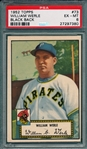 1952 Topps #73 William Werle PSA 6 *Black Back*