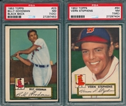 1952 Topps #23 Goodman PSA 7 (OC) & #084 Vern Stephens PSA 7 (MC), Lot of (2)