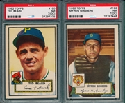 1952 Topps #150 Beard PSA 7 (OC) & #192 Myron Ginsberg PSA 7 (OC), Lot of (2)