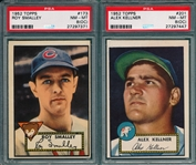 1952 Topps #173 Smalley & #201 Kellner, Lot of (2) PSA 8 (OC)
