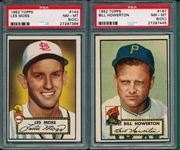 1952 Topps #143 Moss & #167 Howerton, Lot of (2) PSA 8 (OC)
