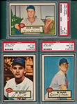 1952 Topps #135 Howell, #144 Blake & #171 Erautt, Lot of (3) PSA 8 (OC)