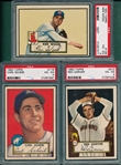 1952 Topps #116 Scheib, #139 Wood & #212 Garver, Lot of (3) PSA 4