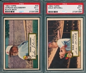 1952 Topps #46 Goldsberry & #92 Mitchell, Lot of (2) PSA 5.5