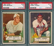 1952 Topps #111 Lowrey & #229 Beardon, Lot of (2) PSA 5