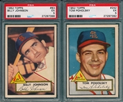 1952 Topps #83 Johnson & #242 Poholosky, Lot of (2) PSA 5