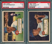 1952 Topps #69 Stallcup & #118 Raffensberger, Lot of (2) PSA 5