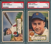 1952 Topps #104 Kolloway & #97 Torgeson, Lot of (2) PSA 5